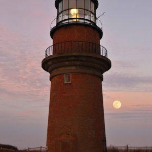 Gay Head Lighthouse Moonrise - photo